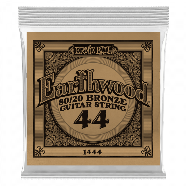 Cordes guitare folk  Ernie ball Folk (1) Earthwood 80/20 Bronze 044 - Corde au détail