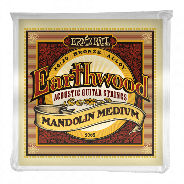 Cordes mandoline Ernie ball Mandoline (8) 2065 Earthwood Medium 10-36 - jeu de 6 cordes