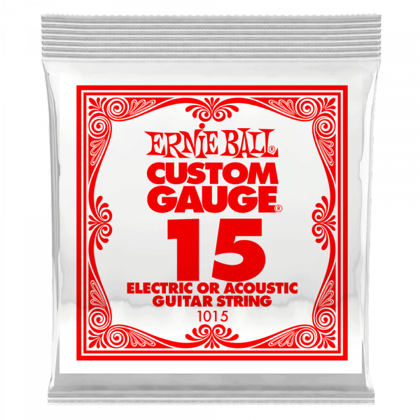 Cordes guitare électrique Ernie ball Electric / Acoustic (1) 1015 Slinky Nickel Wound 15 - Corde au détail