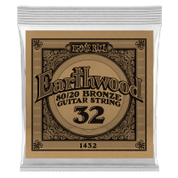 Cordes guitare folk  Ernie ball Folk (1) Earthwood 80/20 Bronze 032 - Corde au détail