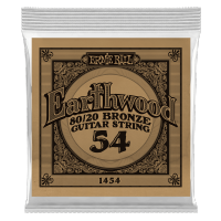 Cordes guitare folk  Ernie ball Folk (1) Earthwood 80/20 Bronze 054 - Corde au détail