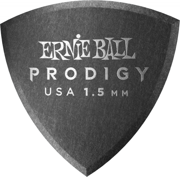Médiator & onglet Ernie ball Prodigy Shield 1,5mm (X6 Pack)