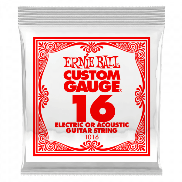 Cordes guitare électrique Ernie ball Electric / Acoustic (1) 1016 Slinky Nickel Wound 16 - Corde au détail