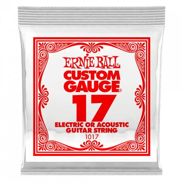 Cordes guitare électrique Ernie ball Electric / Acoustic (1) 1017 Slinky Nickel Wound 17 - corde au détail