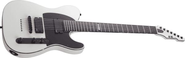 Guitare électrique solid body Esp E-II T-B7 Baritone (Japan) - snow white