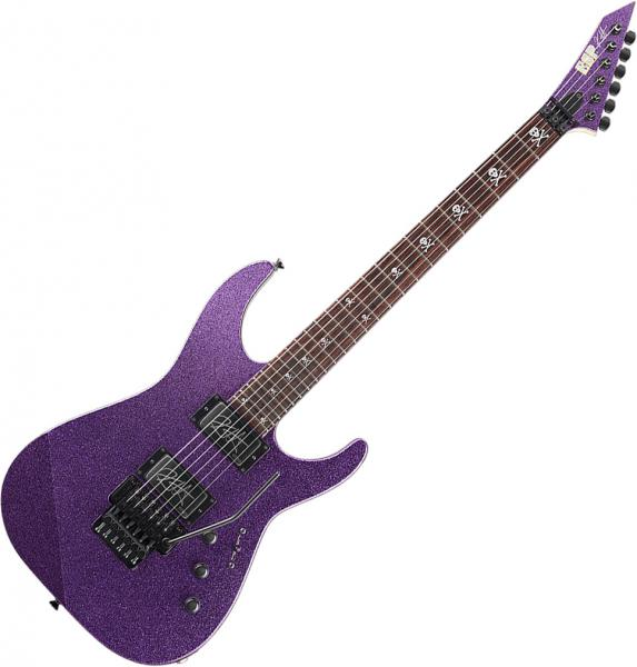 Guitare électrique solid body Esp Kirk Hammett KH-2 - purple sparkle