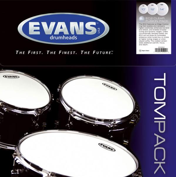 Pack peaux Evans Tom Pack G1 Clear Standard - TPG1CLRS - Pack peaux