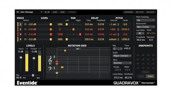 Plug-in effet Eventide Quadravox