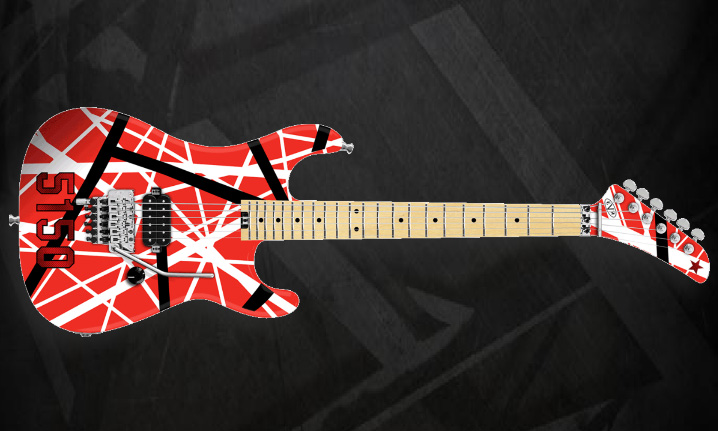 Red Black and White EVH Striped Series 5150