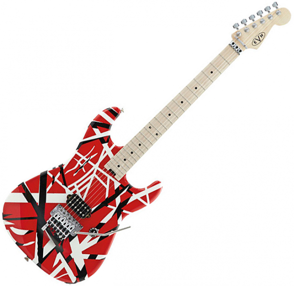 Guitare électrique solid body Evh                            Striped Series - Red with black stripes