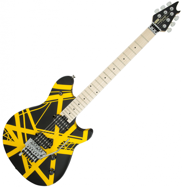 Guitare électrique solid body Evh                            Wolfgang Special Striped (MEX, MN) - black & yellow stripes