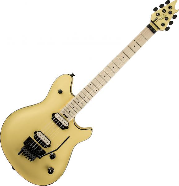 Guitare électrique solid body Evh                            Wolfgang Special Striped - vintage white