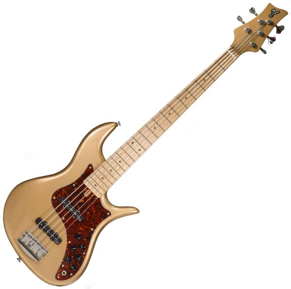 Basse électrique solid body F bass VF5 70's Vintage (Ash, MN) - Bronze