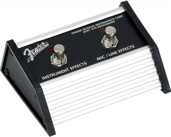 Footswitch ampli Fender 2-Button Contemporary Footswitch Effects On-Off (MIC-INST Channels)