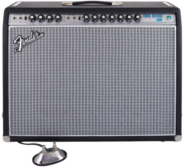 Combo ampli guitare électrique Fender '68 Custom Twin Reverb - Black and Silver