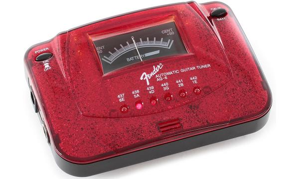 Fender AG-6 Guitar//bass Automatic Tuner ~::RED SPARKLE::~