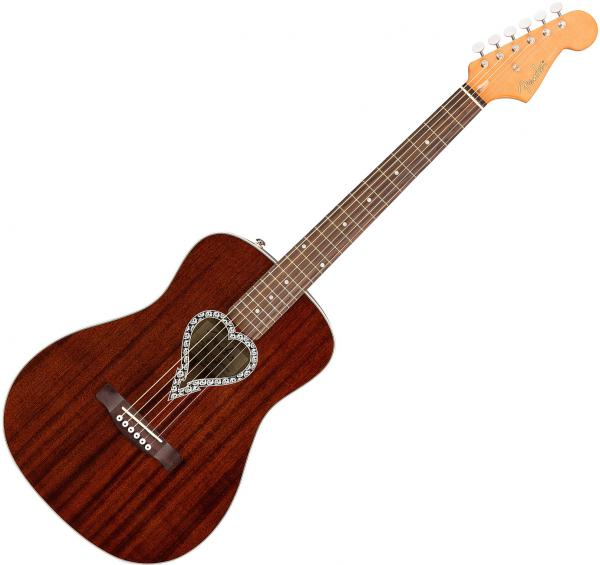 Guitare folk Fender Alkaline Trio Malibu (WAL) - natural