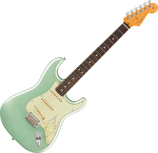 Guitare électrique solid body Fender American Professional II Stratocaster (USA, RW) - Mystic surf green