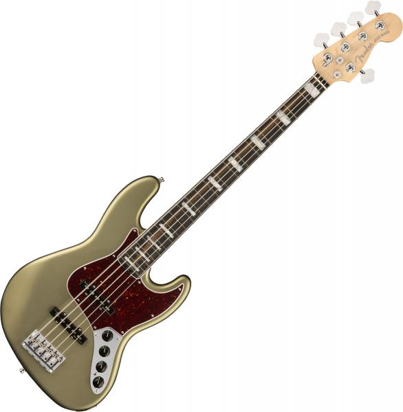Basse électrique solid body Fender American Elite Jazz Bass V (USA, EB) - satin jade pearl metallic