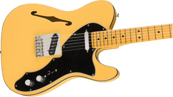 Guitare électrique 1/2 caisse Fender Britt Daniel Tele Thinline (USA, MN) - amarillo gold