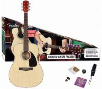 Pack guitare folk Fender CD-60 Acoustic Pack - Natural