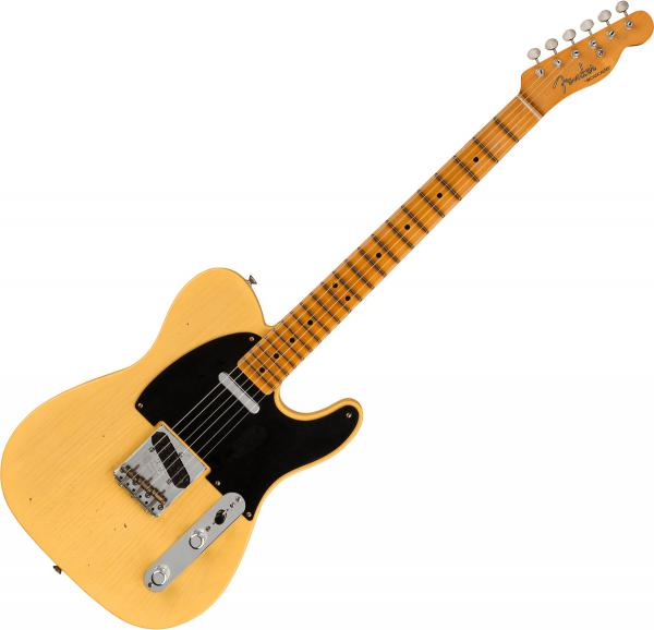 Guitare électrique solid body Fender Custom Shop 70th Anniversary Broadcaster Ltd - Journeyman relic nocaster blonde