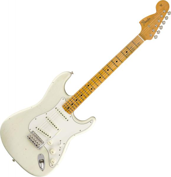 Guitare électrique solid body Fender Jimi Hendrix Stratocaster Voodoo Child (MN) Custom Shop - journeyman relic olympic white