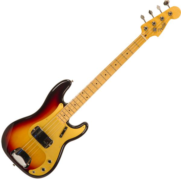 Basse électrique solid body Fender Custom Shop 1958 Precision Bass #CZ548626 - Nos 3-color sunburst