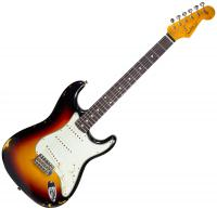 Guitare électrique solid body Fender Custom Shop 1962 Stratocaster 2019 #R98416 - Relic 3-color sunburst