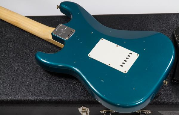 Guitare électrique solid body Fender Custom Shop 1969 Stratocaster (RW) - journeyman relic ocean turquoise