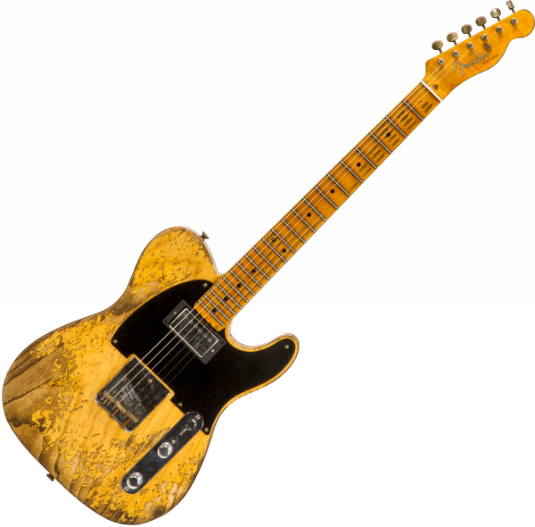 Guitare électrique solid body Fender Custom Shop 1951 SH Telecaster Ltd #R105200 - Super heavy relic aged natural