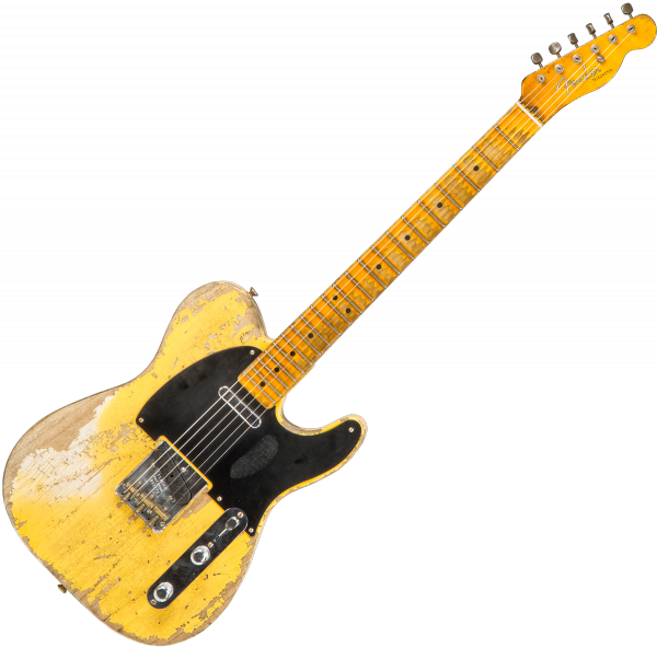 Guitare électrique solid body Fender Custom Shop 1951 Telecaster #R99176 - Super heavy relic aged nocaster blonde