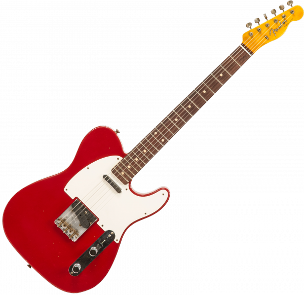 Guitare électrique solid body Fender Custom Shop 1959 Telecaster #CZ548103 - Journeyman relic dakota red