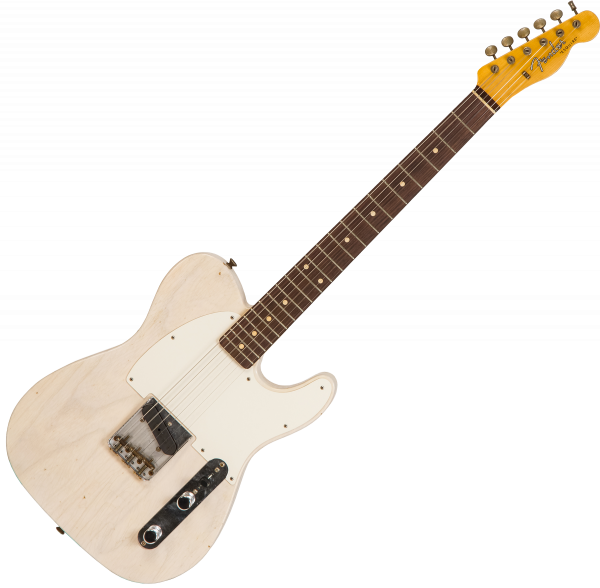 Guitare électrique solid body Fender Custom Shop 1959 Esquire #CZ548085 - Journeyman relic white blonde