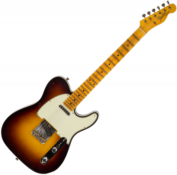 Guitare électrique solid body Fender Custom Shop Telecaster Postmodern Namm 2019 Ltd (MN) - Journeyman relic 2-color sunburst