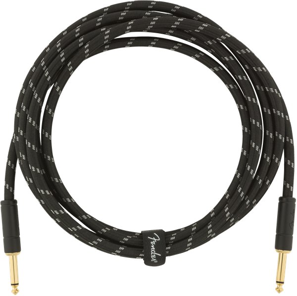 Câble Fender Deluxe Instrument Cable, Straight/Straight, 10ft - Black Tweed