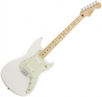 Guitare électrique solid body Fender Offset Duo-Sonic (MEX, MN) - aged white