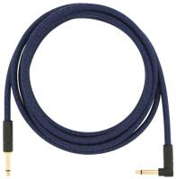 Câble Fender Festival Pure Hemp Instrument Cable, Straight/Angle, 10ft - Blue Dream