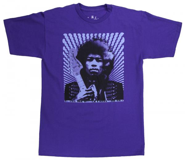 T-shirt Fender Hendrix Kiss The Sky Purple - S