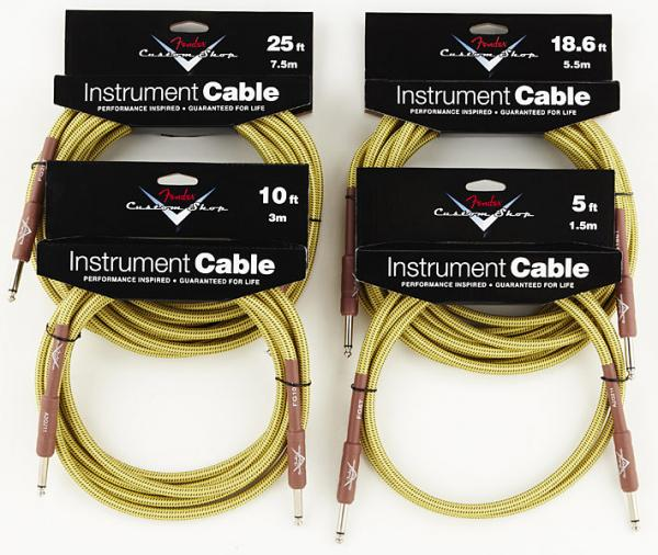 Câble Fender Custom Shop Instrument Cable Tweed - 4.5m