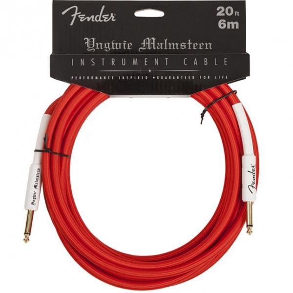 Câble Fender Instrument Cable Yngwie Malmsteen 20ft / 6m - Red