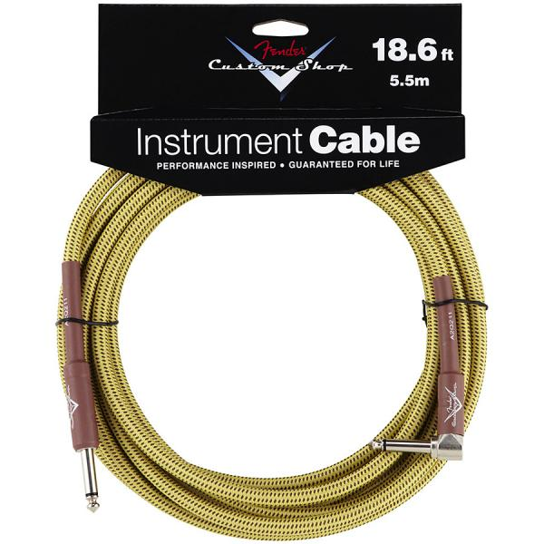 Câble Fender Custom Shop Instrument Cable Tweed - Angle 5.6m