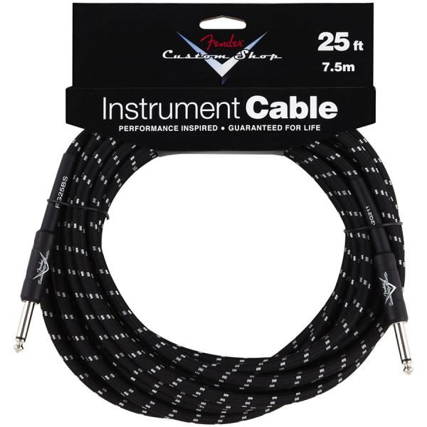 Câble Fender Custom Shop Instrument Cable Black Tweed - 7.5m