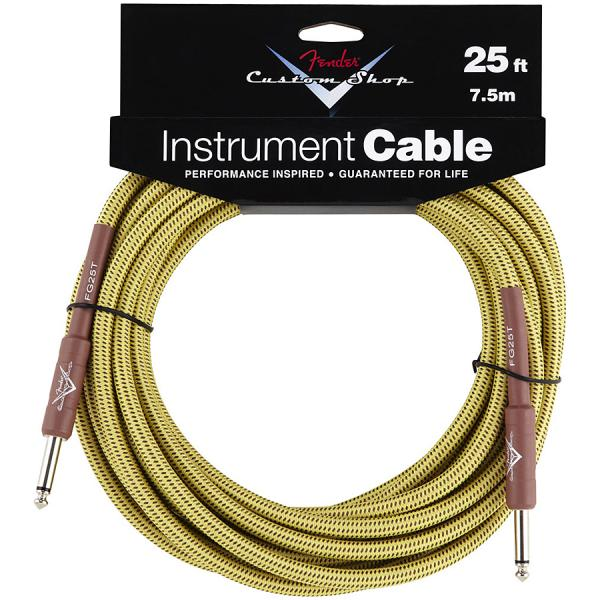 Câble Fender Custom Shop Instrument Cable Tweed - 7.5m