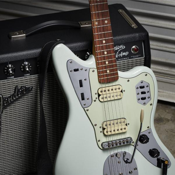 Guitare électrique solid body Fender Vintera 60's Jaguar Modified HH (MEX, PF) - sonic blue