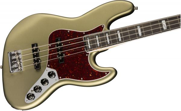 Basse électrique solid body Fender American Elite Jazz Bass (USA, EB) - jade pearl metallic