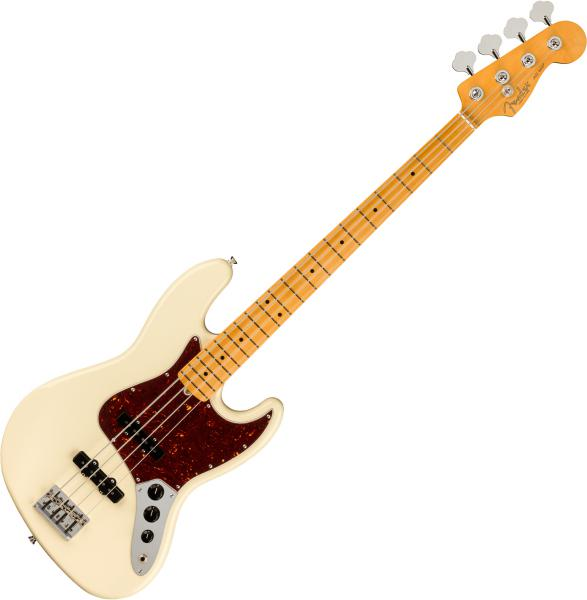 Basse électrique solid body Fender American Professional II Jazz Bass (USA, MN) - Olympic white