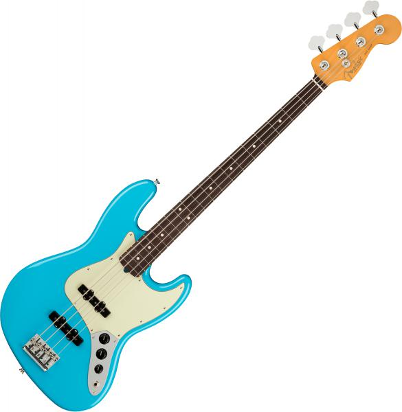 Basse électrique solid body Fender American Professional II Jazz Bass (USA, RW) - Miami blue