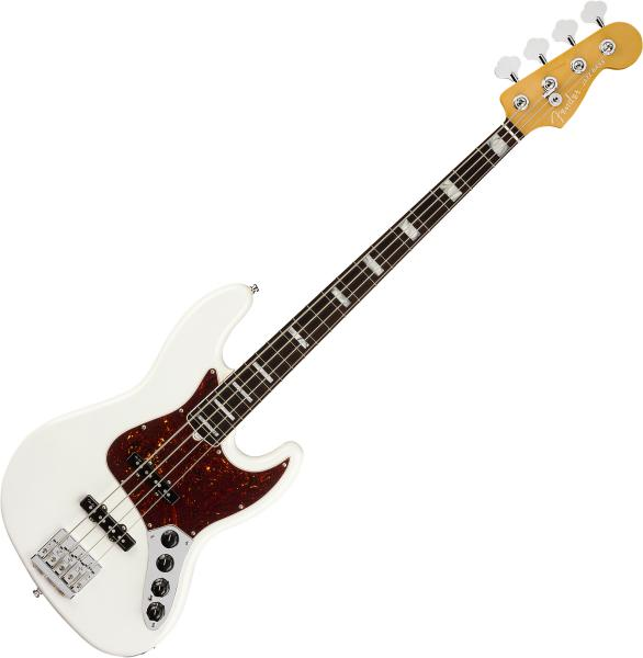 Basse électrique solid body Fender American Ultra Jazz Bass (USA, RW) - arctic pearl