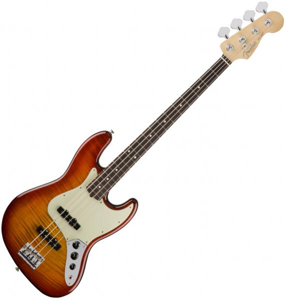 Basse électrique solid body Fender American Professional Jazz Bass FMT Ltd (USA, RW) - antique cherry burst